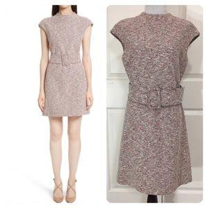 New! Theory Fancy Tweed Mod Belt Dress